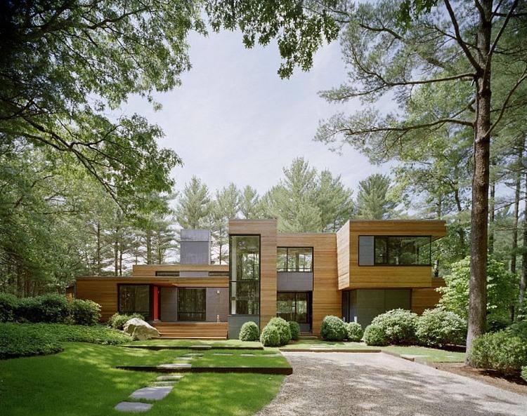 Maison design au milieu de la for t deco de salon for Style architectural maison