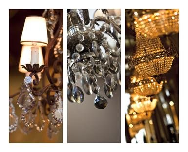 Lustre, pampille, verrerie, luminaire, cristal, éclairage