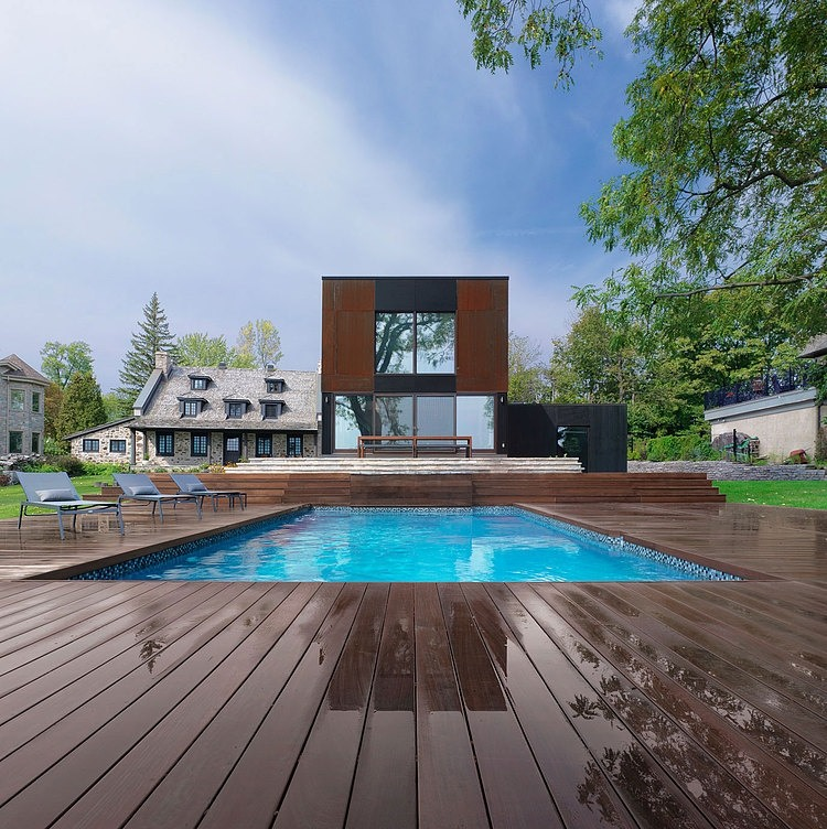 Comment cr er une jolie extension deco de salon for Piscine en bois quebec