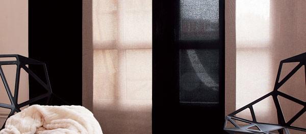 Les panneaux japonaispour habiller les grandes baies vitrées