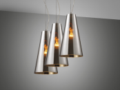 Suspension-d--clairage-CONE-triple-metal-chrome