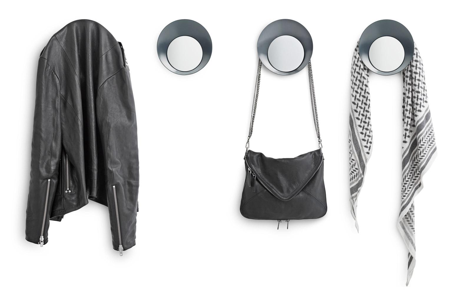 Patère Design avec miroir gris Ready Hook With Mirror grey Normann Chez Wadiga 5