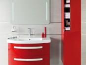 meuble-de-salle-de-bain-rouge